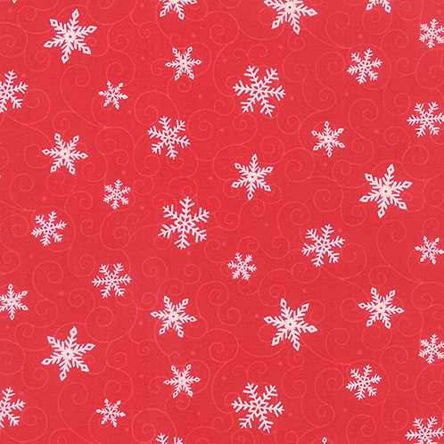 Ho Ho Ho 19704 11 Red Snowflakes Tonal Moda Deb Strain