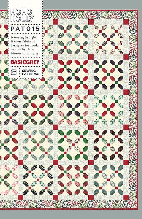 Basic Grey HOHO HOLLY Christmas Pattern
