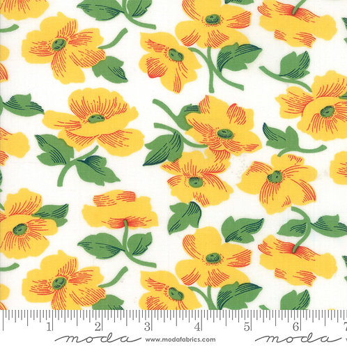 Feed Sacks Red Rover 23312 21 Yellow Floral Moda Linzee McCray