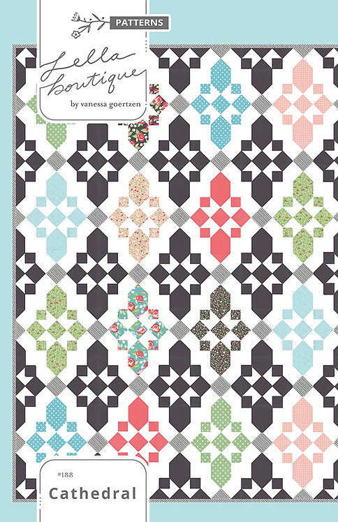 Lella Boutique CATHEDRAL Fat Quarter Pattern
