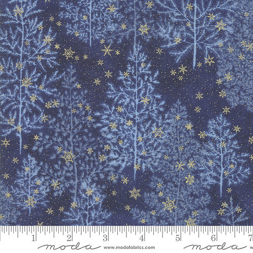 Forest Frost Glitter 33520 17MG  Navy Gold Snowflakes