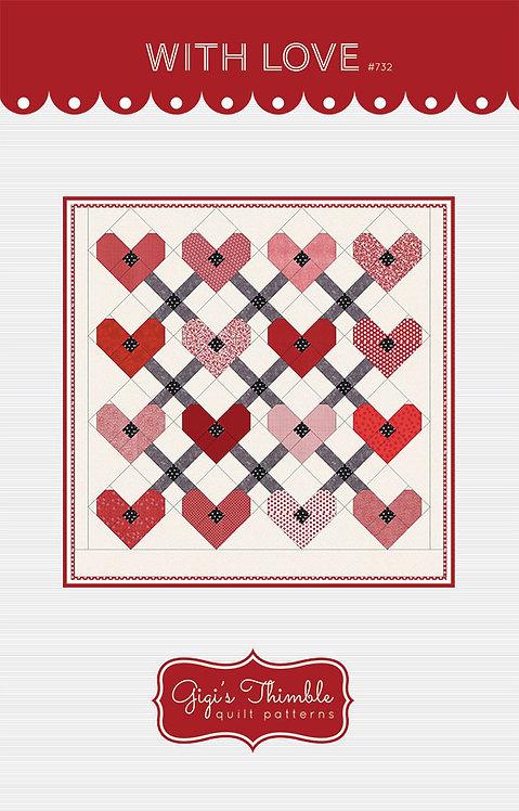 Gigi's Thimble WITH LOVE Layer Cake Pattern