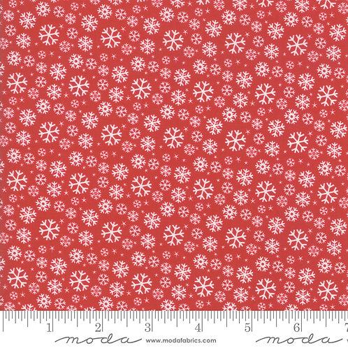 Jolly Season 35345 14 Red Snowflakes Moda Abi Hall