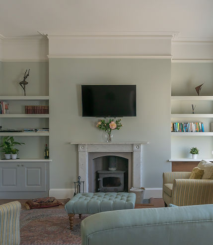 #earthborn paint,victorian lounge, fireplace alcoves, woodburner