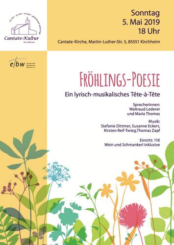 Cantate Kultur Fröhlingspoesie