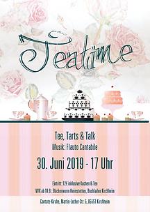 """Plakat """"Teatime - Tee, Tarts & Talk"""""""