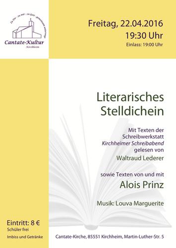 Cantate Kultur Literarisches Stelldichein