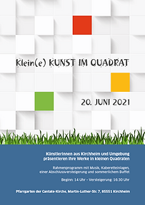 20. Juni 2021: Klein(e) Kunst im Quadrat in der Cantate-Kirche Kirchheim