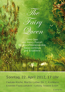 "Plakat ""The Fairy Queen"" von Henry Purcell"