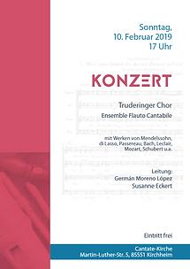 Plakat Konzert Flauto + Trudeinger Cho