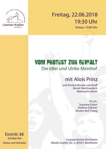 Cantate Kultur Lesung Alois Prinz