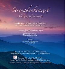Plakat Serenadenkonzert