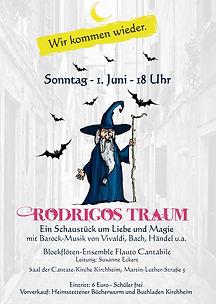 "Plakat ""Rodrigos Traum"" von Flauto Cantabile"
