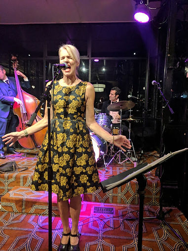 Singer Belinda Blair belts it out with her swing band, Jellyroll.