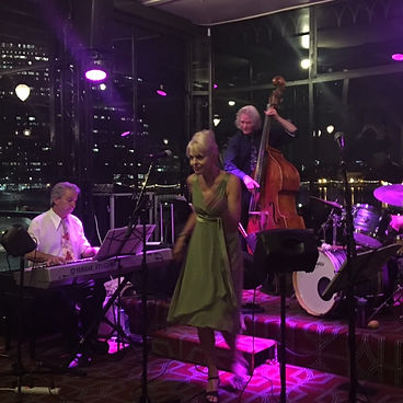 Belinda Blair sings lead with Jellyroll, a swingin' jazz and blues band.