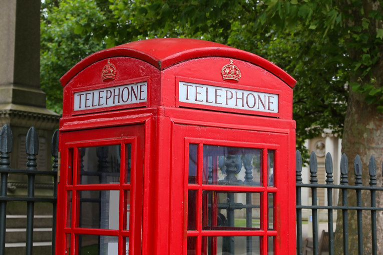London phone box - red telephone kiosk i