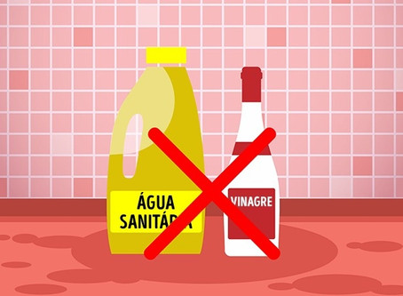 Misturar produtos de limpeza pode fazer mal à saúde