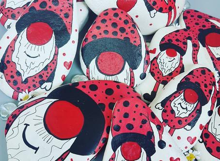 SteinKunst Ladybug Gnomi