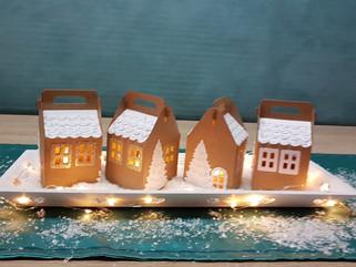 Zauberhaftes Winterdorf aus Papier