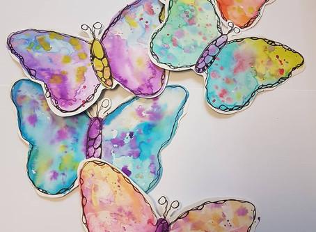 Fröhlich bunte Schmetterlinge - Tutorial