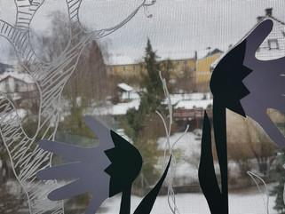 Schneeglöckchen - Handabdruck