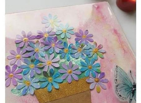 Süßer Blumengruß, Geschenkidee KiDSbasteln