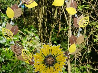 Papierbasteln: DIY - Herbstkranz, #KreativeYOU