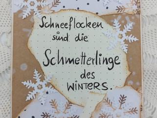 Winterkarte mit Spruch, Kartenwerkstatt #KreativeFantasy