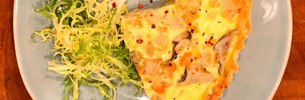 salmon potato quiche
