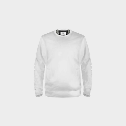 EXCLUSIVE UNISEX JM LOGO SWEATSHIRT // White & Black