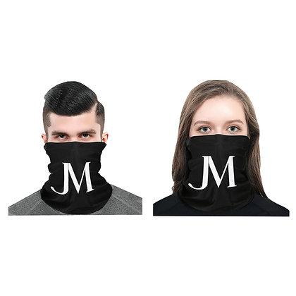 JM LOGO UNISEX MULTIFUNCTIONAL DUST-PROOF BANDANA // Black & White