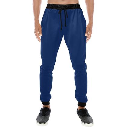 MEN'S CASUAL SPORT JOGGER PANTS // Royal Blue & Black