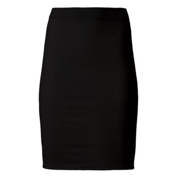 PONTE JERSEY PENCIL SKIRT // Black