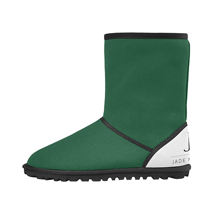 KIDS JM COMPANY SNOW BOOTS // Forest Green, White, and Black