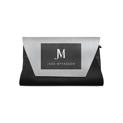 JM COMPANY CLUTCH BAG // Black, Grey, & White