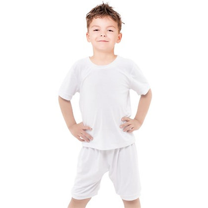 BOYS CASUAL TEE AND SHORTS SET // White