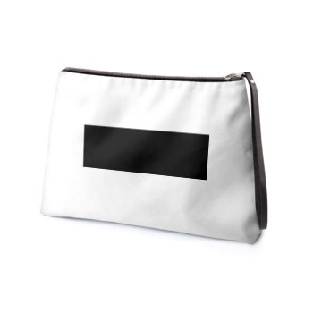 LEATHER BAR CLUTCH // Black & White, with Neon Green Interior