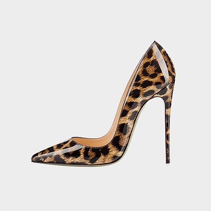 JADE McFADDEN PATENT LEATHER ANIMAL PRINT CLASSIC PUMPS // Tan, Brown, & Black