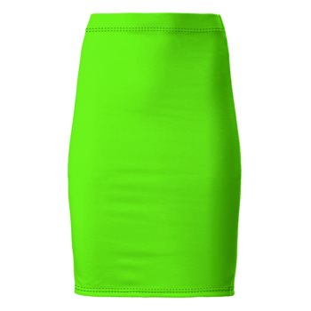 PONTE JERSEY PENCIL SKIRT // Neon Green