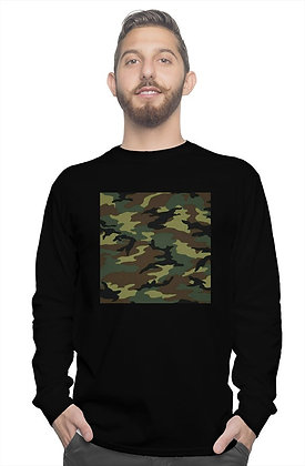 LONG SLEEVE CAMOUFLAGE SQUARED SHIRT