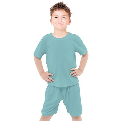 BOYS CASUAL TEE AND SHORTS SET // Pale Teal