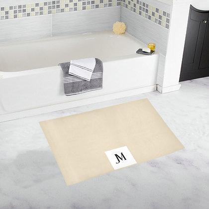 JM LOGO BATH RUG // Double Pearl Lusta, White, & Black