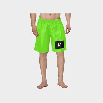 MEN'S JM HYBRID SWIM TRUNKS // Neon Green, Black, & White