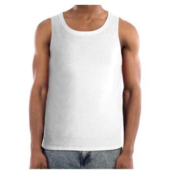 MEN'S CLASSIC JM TANK TOP (MUSCLE SHIRT) // White