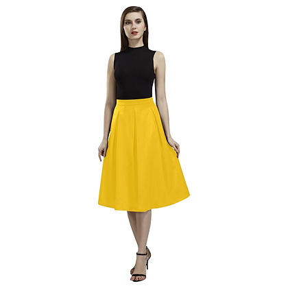 CREPE SKIRT // Yellow