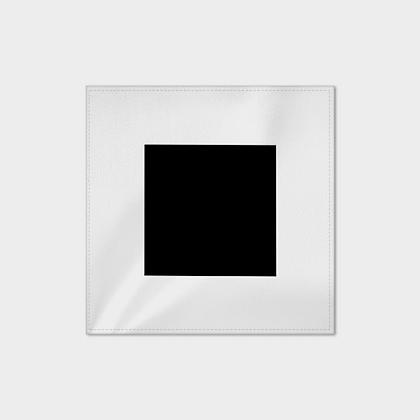 HANDKERCHIEFS (POCKET SQUARES) // Set of 2 // Black & White