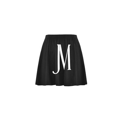 WOMEN'S JM LOGO PRINT MINI SKIRT // Black & White
