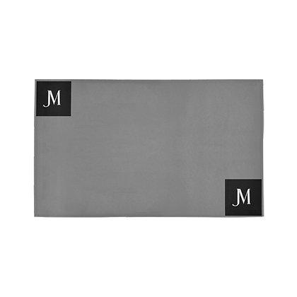 JM LOGO  DOORMAT // Grey, Black, & White