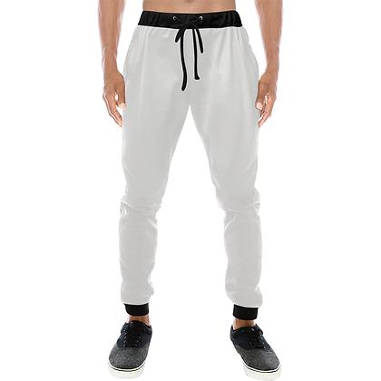 MEN'S CASUAL SPORT JOGGER PANTS // White & Black
