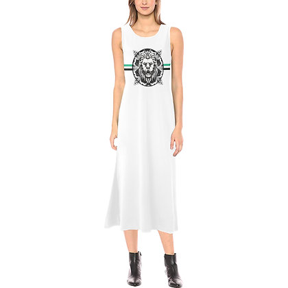 WOMEN'S JM COMPANY ROYAL COAT OF ARMS MIDI DRESS // White, Black, & Jade Green